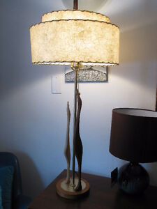 Awesome retro mid century teak wood lamp
