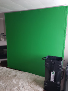 8x8 self standing green screen for photography