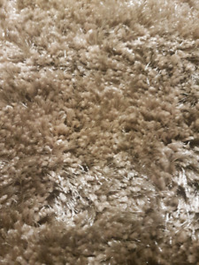Brand New - light brown shaggy rug