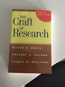 The Craft of Research- Third Edition