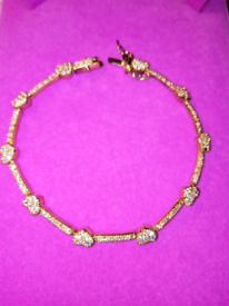 NEW SILVER, AND GOLD GILDED. HEARTS AND BAR BRACELET
