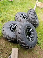 "Tires and rim's,, ""cheep"" . Best offer gets them"