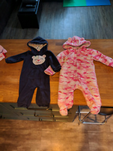 6-9 Month Fleece Suits