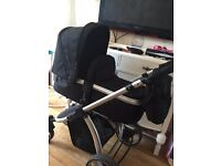 Unisex pram from birth with carrycot & buggy
