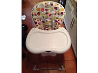 Graco baby highchair - suitable for boy or girl