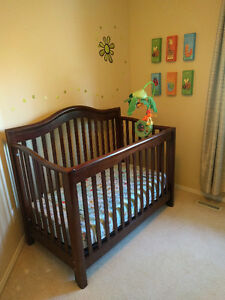 Solid wood nursery furniture: crib, changetable, dresser