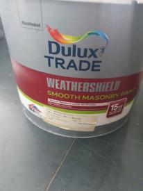 Unopen Dulux 10L weathershield outdoor masonry paint colour gardenia