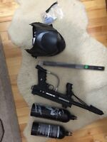 Paintball gun and accesories