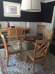 Maple table set with 6 chairs