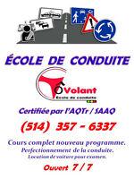 COURS DE CONDUITE COMPLET,SPÉCIAL 1 ER ANNIVERSAIRE 599$