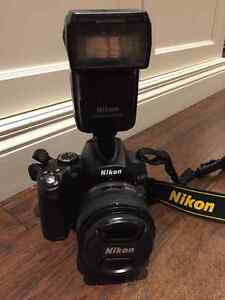 Nikon DSLR Package D5000, AF-S 50mm f1.8 SB600 Flash