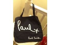 🛍 Paul Smith women's black canvas tote bag new