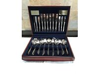 64 piece set of Viners 18/10 stainless steel Millennium cutlery in wooden box