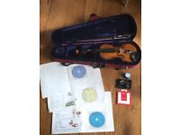 Stentor 3/4 size violin with accessories