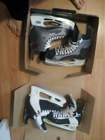 Selling 2 pairs in a bundle for 50$ size 9 & 8 hockey skates