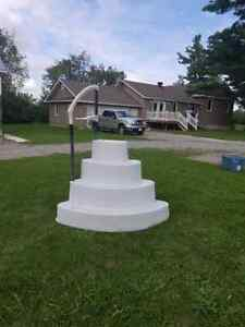 Above ground pool step / stairs, wedding cake style