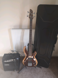 Aria Pro 2 Rosie IGB bass guitar and amplifier