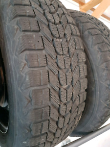 205/60R16 Firestone Winterforce tires and rims
