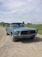 Blue 1967 mustang coupe