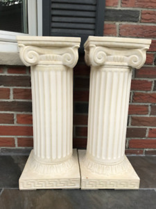 "Decorative Greek Ionic Short Columns 25"" High"