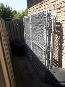 Out door dog run, galvanized fencing.  6'x16'.       $500obo
