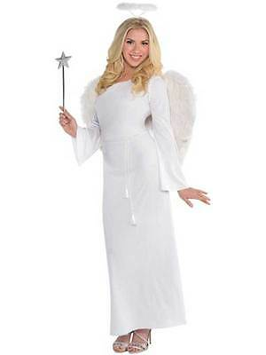 Adult Fairy Angel Fancy Dress Costume Heaven Sent Christmas Ladies Female 10-20
