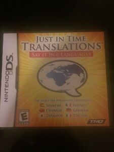 Nintendo DS Game - Just in Time Translations