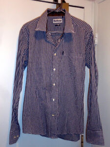 Barbour Gingham Check Button Shirt, Size M New!