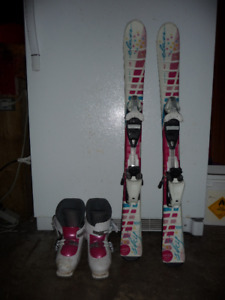 Kids 100cm skis and 261mm boots