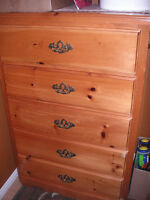 Sturdy and Solid five drawer dresser  New sells at $299.99 plus