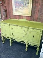 GORGEOUS ANTIQUE AVOCADO SIDEBOARD $456 this week!