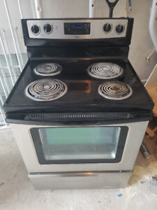 "2014whirlpool stainless steel coil 30"" electric stove range oven"