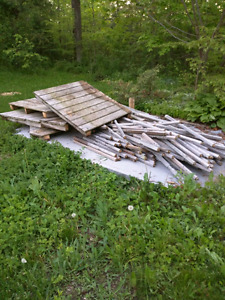 Free presure treated wood from decking off hwy 86