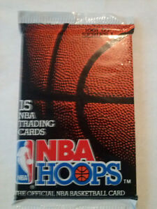 NBA Hoops, '91-'92 Basketball Cards (Unopened Pack)
