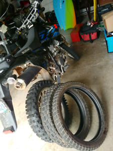 Drz400s almost new tires