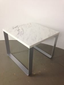 sleigh base side table