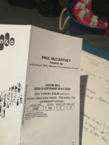 Billet pour Paul McCartney Freshen up 20septembre MTL
