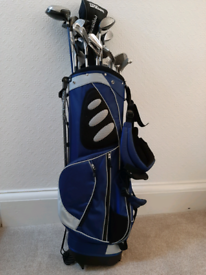 Golf clubs with brand new unused golf bag for sale £150 Uddingston