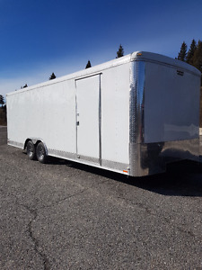 enclosed car hauler trailer-side by-extra height-2017-10400gvw