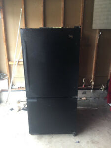 Whirlpool black fridge with bottom freezer for sale 66h30w30d