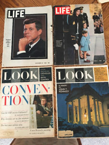 JFK Life and Look Magazines November 1963 to July 1964