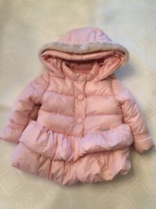 Short quilted puffer coat with removable hood - 18 Months/86 cm