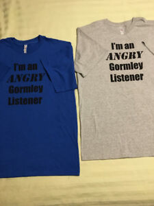 Angry Gormley Listener t-shirts