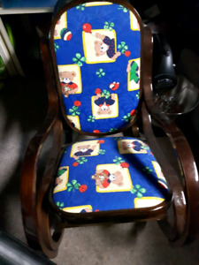2 rocking chairs 10.00 each riding toy 5.00 frozen tent 15.00