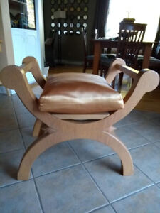 Solid white oak bishop's chair