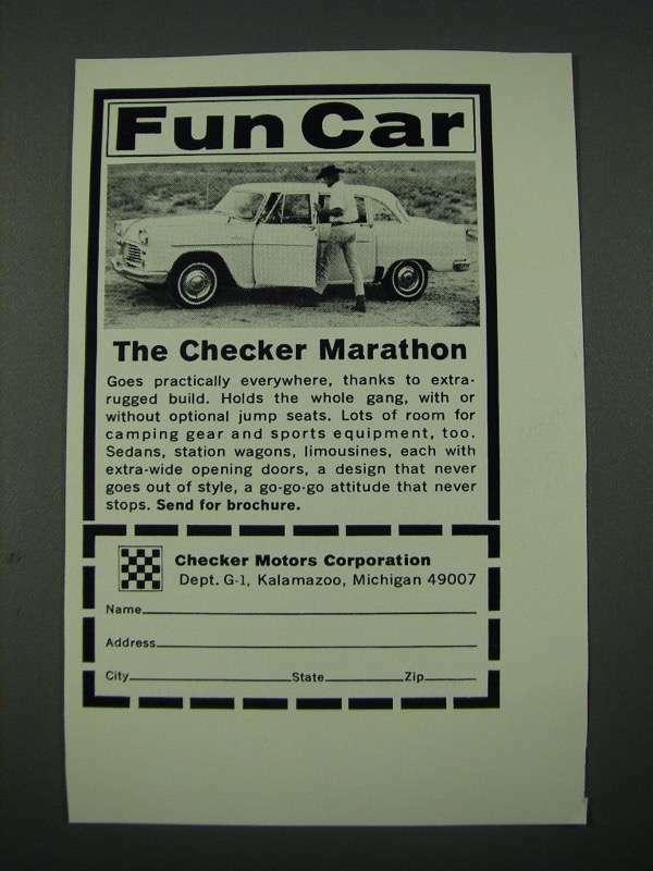 1965 Checker Marathon Car Ad - Fun Car
