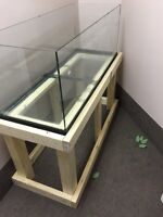 65 gallon reptile tank with homemade stand