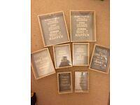 Oak effect wooden photo frames