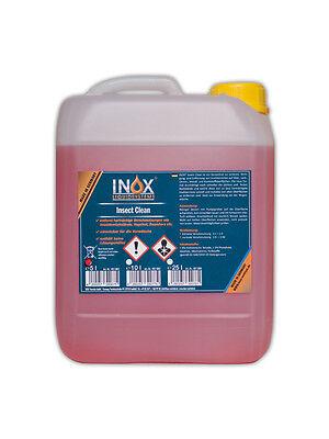 Schaum Kühler (Reiniger entfernt Vogelkot, Baumharz etc. 5L Konzentrat INOX® Insect Clean)
