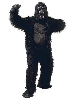 Adult Gorilla Rubber Chest Ape Monkey Animal Mens Ladies Fancy Dress Costume  (Mens Monkey Costume)